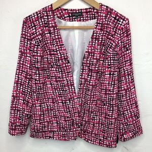 Notations Ladies Tweed Open Front Light Blazer PS